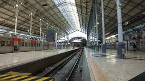 The Empty Rossio Railway Station stock footage