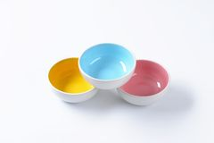 Empty round bowls Royalty Free Stock Photography