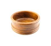 Empty round wood Box Stock Photo