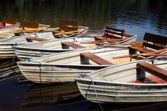 Empty rowboats Stock Photo