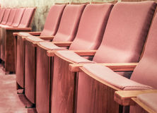 Empty rows of armchairs in hall Royalty Free Stock Photos