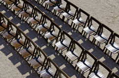 Empty rows of chairs Royalty Free Stock Photo