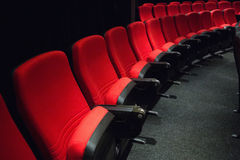 Empty rows of red seats Stock Photography
