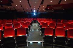 Empty rows of red seats Royalty Free Stock Photos