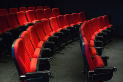 Empty rows of red seats Royalty Free Stock Images