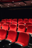 Empty rows of red seats Royalty Free Stock Photo