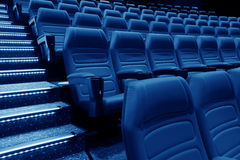 Empty rows of red theater Royalty Free Stock Image