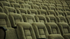Empty rows of theater, concert hall or movie seats