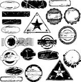 Empty rubber stamps. Collection of empty rubber stamps for your text. See other rubber stamp collections in my portfolio Royalty Free Stock Photo