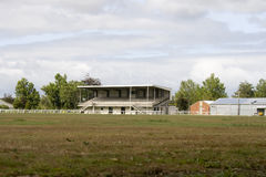 Empty rugby field with Stock Image