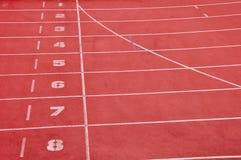Empty running lane Stock Photo