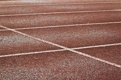 Empty running track Stock Images