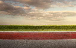 Empty Running Track Royalty Free Stock Images