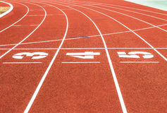 Empty running track with number Stock Image