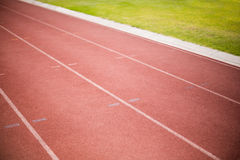 Empty running track Stock Photos