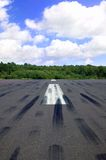 Empty runway Royalty Free Stock Photo