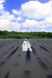 Empty runway royalty free stock photo