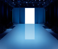 Empty Runway. Before a fashion show Stock Images