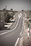 Empty Rural Curve Road Royalty Free Stock Image