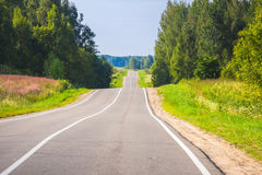 Empty rural highway perspective Royalty Free Stock Photo
