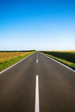 Empty rural road Royalty Free Stock Photos