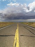 Empty rural road. Royalty Free Stock Images