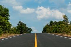 Empty rural road Stock Photo