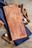 Empty rustic cutting board Stock Photos