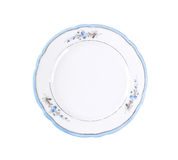 Empty rustic dinner plate Royalty Free Stock Photos