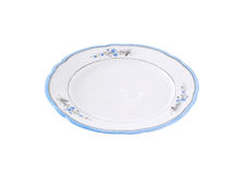 Empty rustic dinner plate Royalty Free Stock Photography