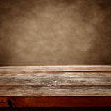 Empty rustic table Royalty Free Stock Photo