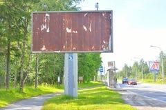 Empty rusty advertising poster. Stock Photo