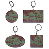 Empty Rusty key rings on isolated background Stock Photography