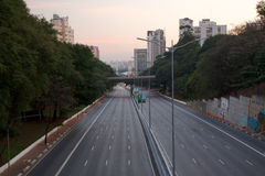 Empty São Paulo Avenue Royalty Free Stock Photo