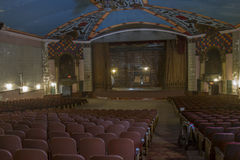 Empty 1920's era movie theater Royalty Free Stock Image
