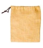 Empty sack bag isolated on white background Royalty Free Stock Photos