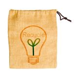 Empty sack bag with recycle concept. Stock Images