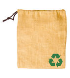 Empty sack bag recycle Stock Photo