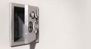Empty Safe On Wall Stock Image