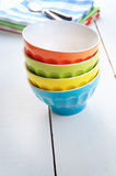 Empty salad bowls Royalty Free Stock Images