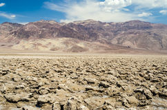 The empty salt pan of Devil's Golf Course in Death Valley, Calif Stock Images