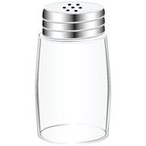 Empty salt shaker Royalty Free Stock Photos