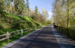 Empty Sammamish lake trail Stock Photo
