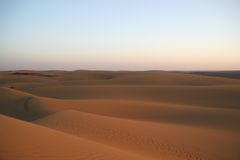Empty sand dune in the desert Stock Photo