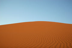 Empty sand dune in the desert Royalty Free Stock Photo