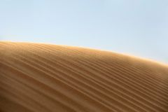 Empty sand dune in the desert Royalty Free Stock Image