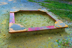 Empty Sandbox on the playground Royalty Free Stock Photography
