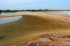 Empty sandy beach Royalty Free Stock Photos