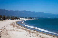 City beach with white sand in Santa Barbara Stock Image