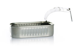 Empty sardine can Stock Photography